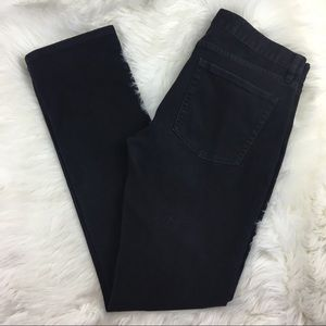 J. Crew Black Matchstick Straight Leg Jeans 30